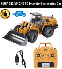 HUINA 1580 1:14 RC Car Electric Bulldozer Excavator Engineering Simulation Truck