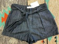 """Joie """"Pike"""" Denim Shorts, Women's NWT Tie Front Chambray 2"""