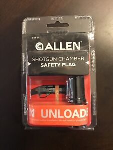 Allen Shotgun Chamber Orange Safety Flag Unloaded Fits 20 & 12 Gauge NEW 1986A