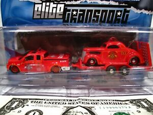 Maisto All Stars Elite Transport 2004 Ford F-150 1936 Ford Cook County Fire 1:64