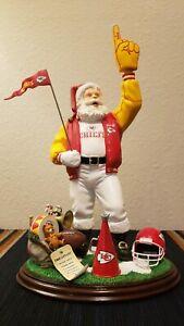Kansas City Chiefs Santa Figurine 2001 Officially licensed NFL by Danbury Mint