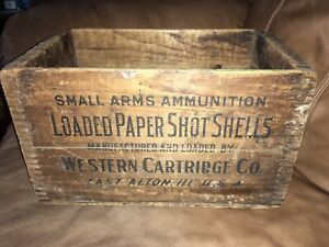 Vintage Western Cartridge Co. 12 Ga. Loaded Paper Shot Shell T&G Crate Empty