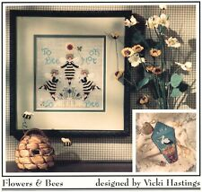 Cricket Collection Flowers & Bees 2 Cross Stitch Charts/Leaflet stork's nest