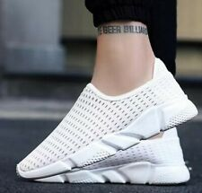 Men's Mesh Breathable Shoes Sneakers Flat Running Low Top Casual Athletic Shoes