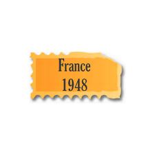 Timbres France neufs 1948 année complète.