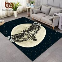 Living Room Carpet Gothic Skull Non-slip Floor Mat Butterfly Area Rug Carpet