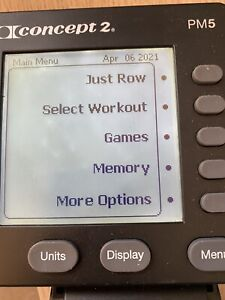 PM5 Concept 2 Rower Monitor