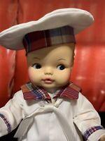 Horsman '74 Vintage Baby Boy Doll Drink & Wet Molded Hair Side Glance Paint Eye