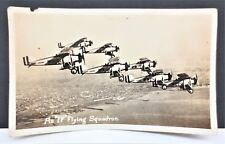 Antique US NAVY IF Squadron Military Biplanes RPPC Postcard Free S/H