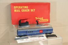 TRIANG R401 TRANSCONTINENTAL TC BLUE OPERATING MAIL COACH SET BOXED nv