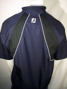 NEW FootJoy DryJoys Tour Collection Medium Navy 1/4 Zip Waterproof Rain Jacket