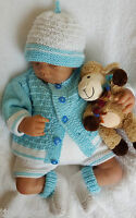 BABY KNITTING PATTERNS DK 63 BABY OR REBORN DOLLS BY PRECIOUS NEWBORN KNITS
