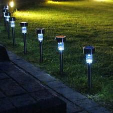 24 x STAINLESS STEEL OUTDOOR GARDEN POLE SOLAR LIGHTS GA419