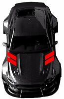 """Fender Hood Hash Bars vinyl RACING STRIPES 4"""" Decals (Fits Ford MUSTANG, Shelby)"""
