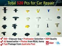 520PCS Car Trim Body Clips Kit Rivet Retainer Door Panel Bumper FITS MITSUBISHI