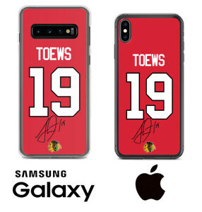 Jonathan Toews Blackhawks Samsung iPhone Jersey Phone Case Facsimile Autograph