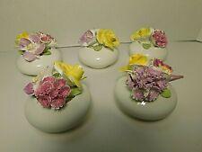 Vintage Sandford Miniature Floral Flower Pot Bouquets Fine Bone China England