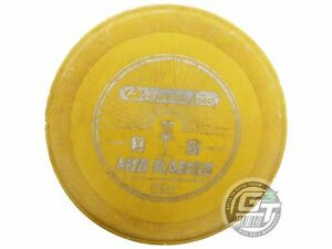 USED Wham-O Frisbee Mid Range 179g Yellow Silver Foil Midrange Golf Disc