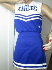 "EAGLES Cheerleader Uniform Outfit 36"" Top 26 Skirt Blue White American Mascot"