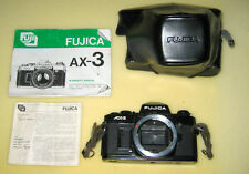 Fujifilm Fujica AX 3 35mm SLR Film Camera with Owner's Manual