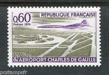 FRANCE 1974 timbre 1787, Aéroport, avion, neuf**, VF MNH STAMP PLANE