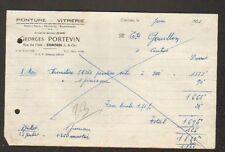 """CONTRES (41) PEINTURE / VITRERIE / PAPIERS PEINTS """"Georges PORTEVIN"""" en 1953"""
