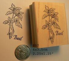 Basil herb rubber stamp P57