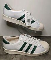 New Adidas Superstar 80s Recon Shoes White / Collegiate Green B41719 Men Sz 8.5
