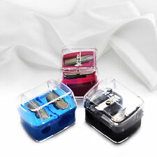 2 Holes Makeup Pencil Sharpener Cosmetic Tool For Lip Eyebrow Liner Eyeliner