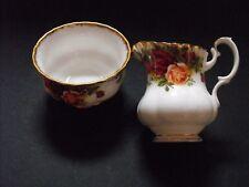 Royal Albert Old Country Roses Open Sugar Bowl & Cream Jug