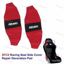 Jdm Recaro Racing Seat Red Side Cover Repair Decoration Pad Seat Racing New 2pcs