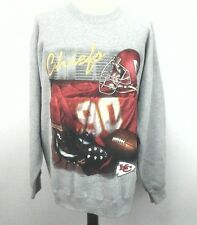 KANSAS CITY CHIEFS Sweatshirt Vintage 90's NFL Football Gray USA Men's 2XL XXL