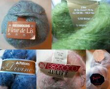 Mohair Yarn Stash 6 Skeins Patons Berroco Reynolds Linate McCalls Paris 350g