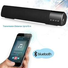 Powerful TV Sound Bar Speaker Bluetooth Home Theater Subwoofer TF/AUX/USB O1N3