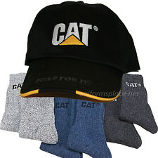 Caterpillar CAT Mens Hat or Beanie w/ 6 prs Athletic thermal Socks Bundle Colors