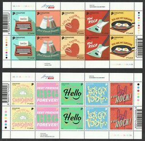 SINGAPORE 2021 GREETINGS 2 X FULL SHEET OF 10 STAMPS EACH (2 SETS) IN MINT MNH