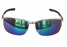 Matrice Occhiali Da Sole Occhiali Moto Sport Cromo Argento Verde Blu a specchio m21
