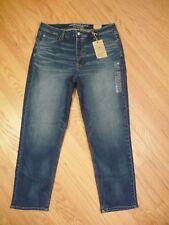 Womens NEW AE American Eagle Vintage Hi Rise Stretch Medium Denim Jeans 18 Long