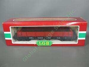 LGB G Scale Train Car 4061 D&RGW Denver and Rio Grande Western Low Side Gondola