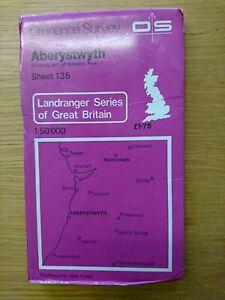 Landranger Map Aberystwyth Sheet 135 1974  Ordnance Survey