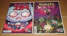 Invader Zim #1 Both Variant Edition Covers 1st Prints Jhonen Vasquez