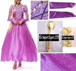Rapunzel Vestito Carnevale Donna Dress up Tangled Woman Costume RPZ001