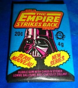 RARE 1980 OPC Star Wars EMPIRE STRIKES BACK SERIES 2 Wax Pack gum intact