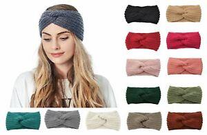 Autumn winter knot headband crochet knitted headband woollen headband 21 colours