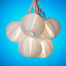 White Paper Lantern String Party Lights, New, Free Shipping
