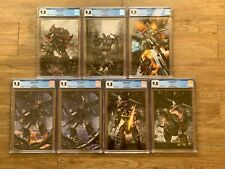 Transformers #1 - 5 complete Virgin set John Gallagher all CGC 9.8 IDW 2019
