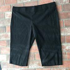 Apartment 9 Size 3x Mid Rise Black Capri Pants NWT New