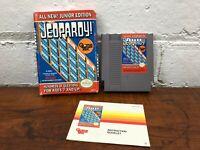 Jeopardy Junior Edition Nintendo NES Cartridge w/ Box and Instruction Manual