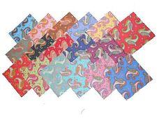 "17 10"" Beautiful Dancing Paisley Quilting Fabric Layer Cake Squares  !! NEW ITEM"