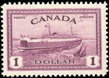1946 Mint Canada Scott #273 $1.00 Train Ferry Issue Stamp Hinged